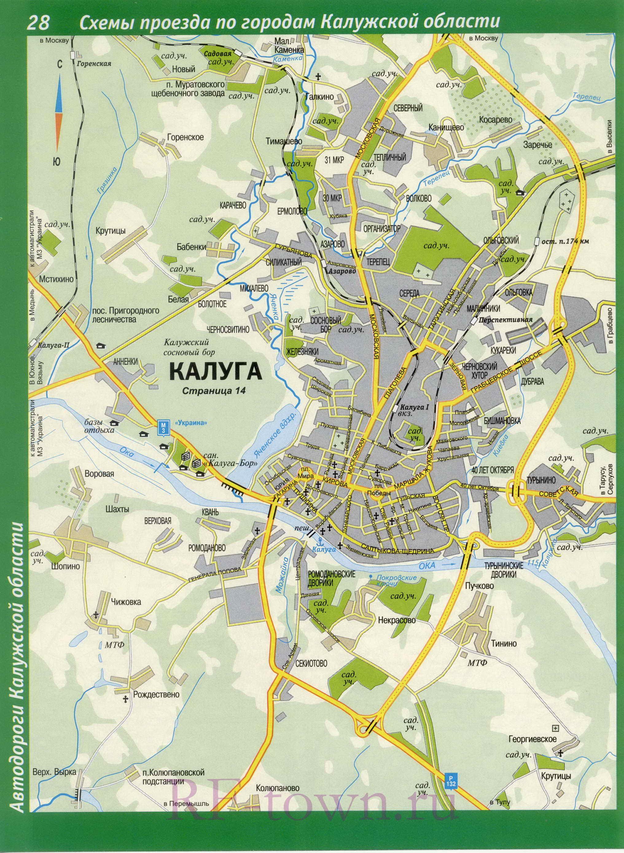 Карта Г Калуга
