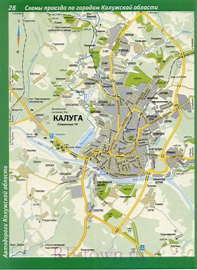 Карта Калуги. Карта схема
